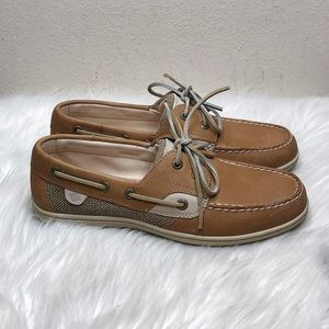 Sperry Topsiders Tan Leather Boat Shoes Loafers 8